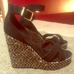 Express black wedges size 9